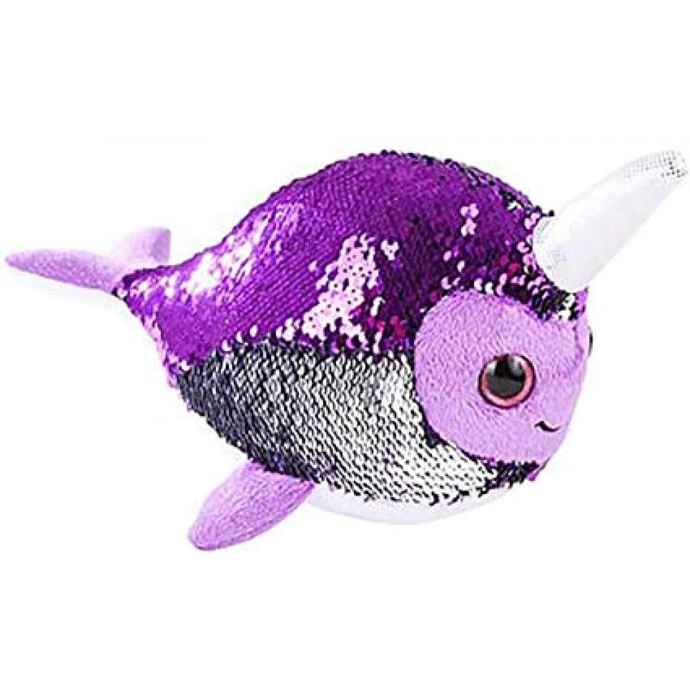Sequinimals Stuffed Animals Narwhal 10in