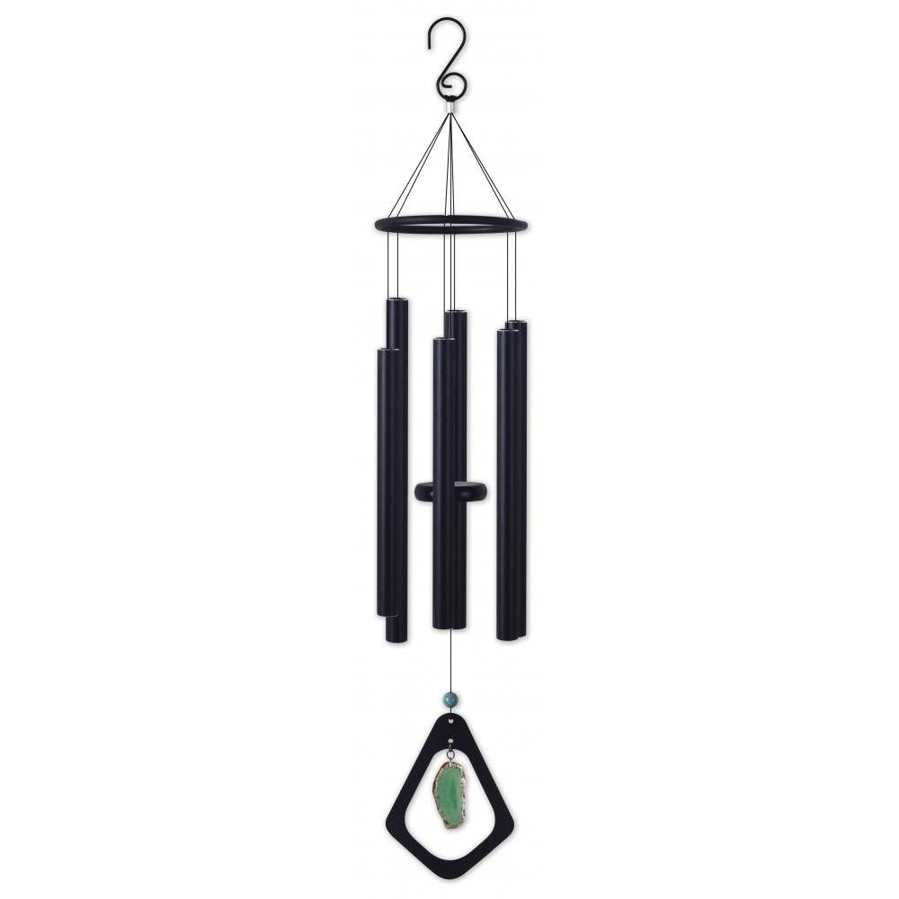 Wind Chime - Green Agate 34in