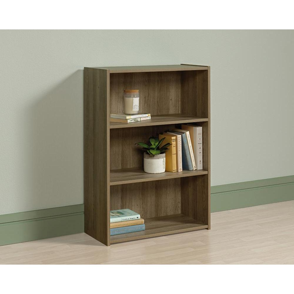 Beginnings Bookcase Summer Oak Finish Three Shelf