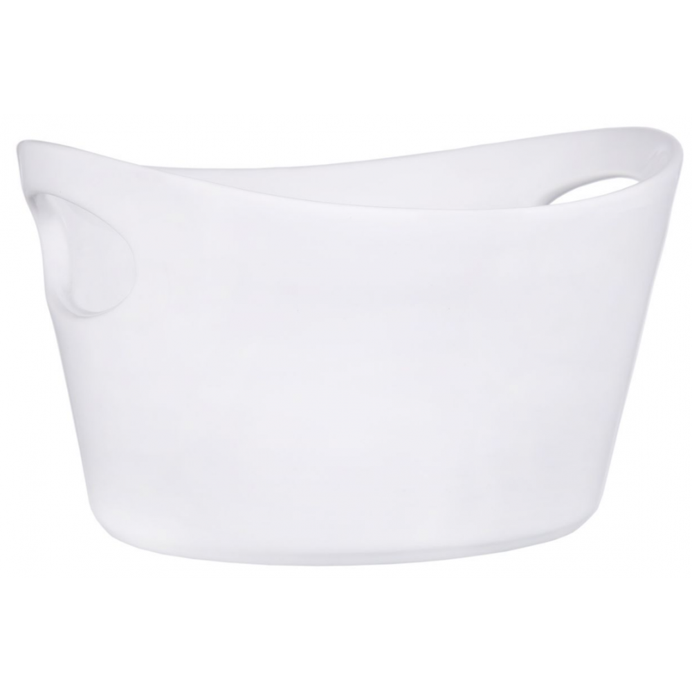 Pure White Oval Bowl With Cut Out Handles, 6in