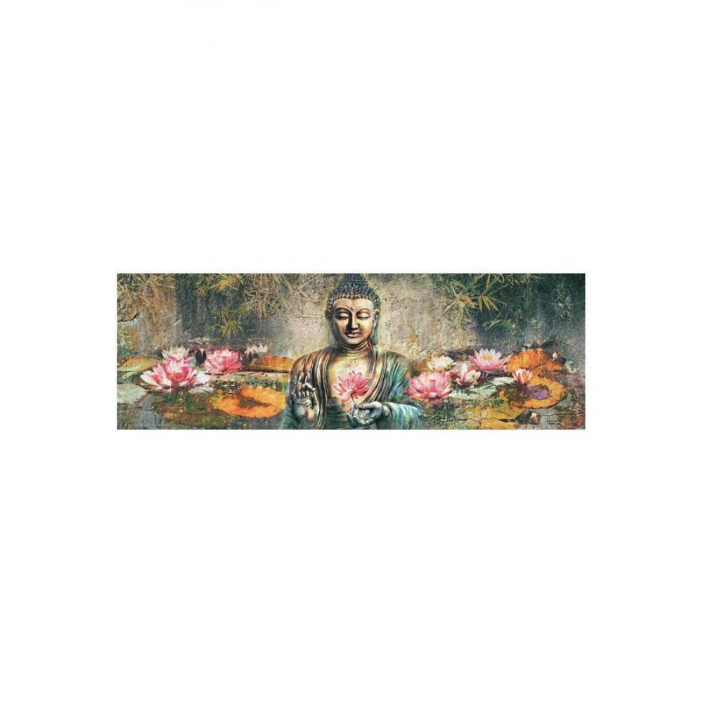 Lotus Flower Buddha 12inx36in Poster