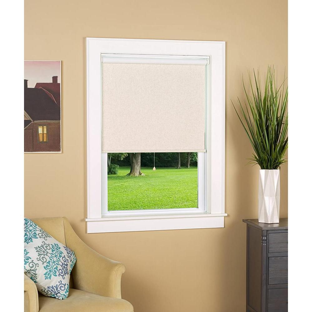 Black Out Cordless Roller Shade Linen 28in X 72in