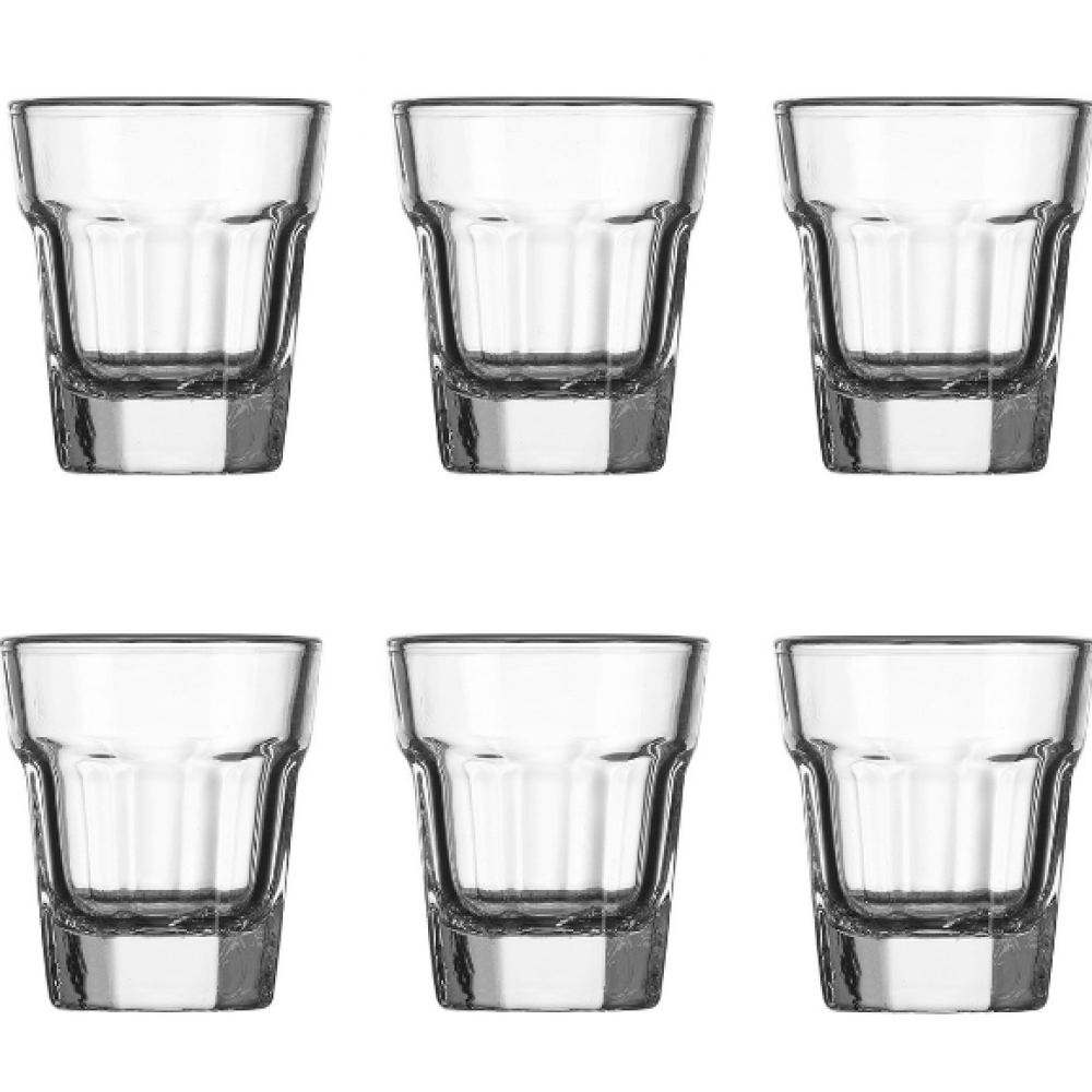 Panel Shot Glass S/6 1.5 oz