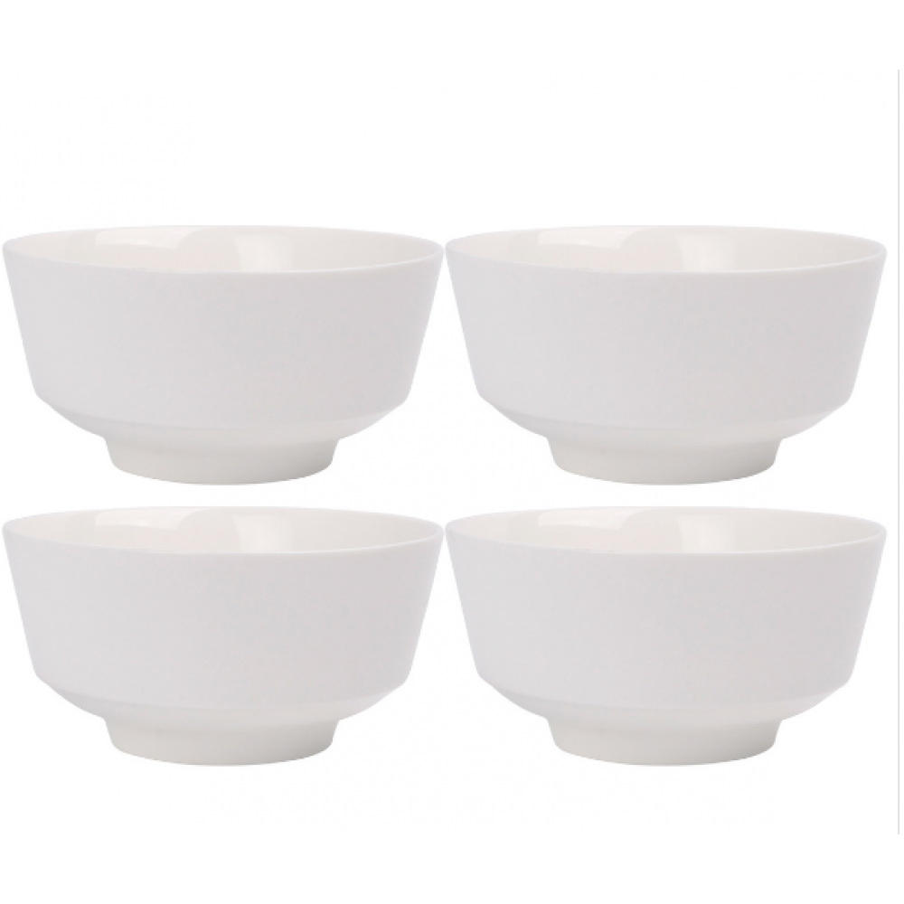 White Porcelain Cereal Bowl 5.5in S/4