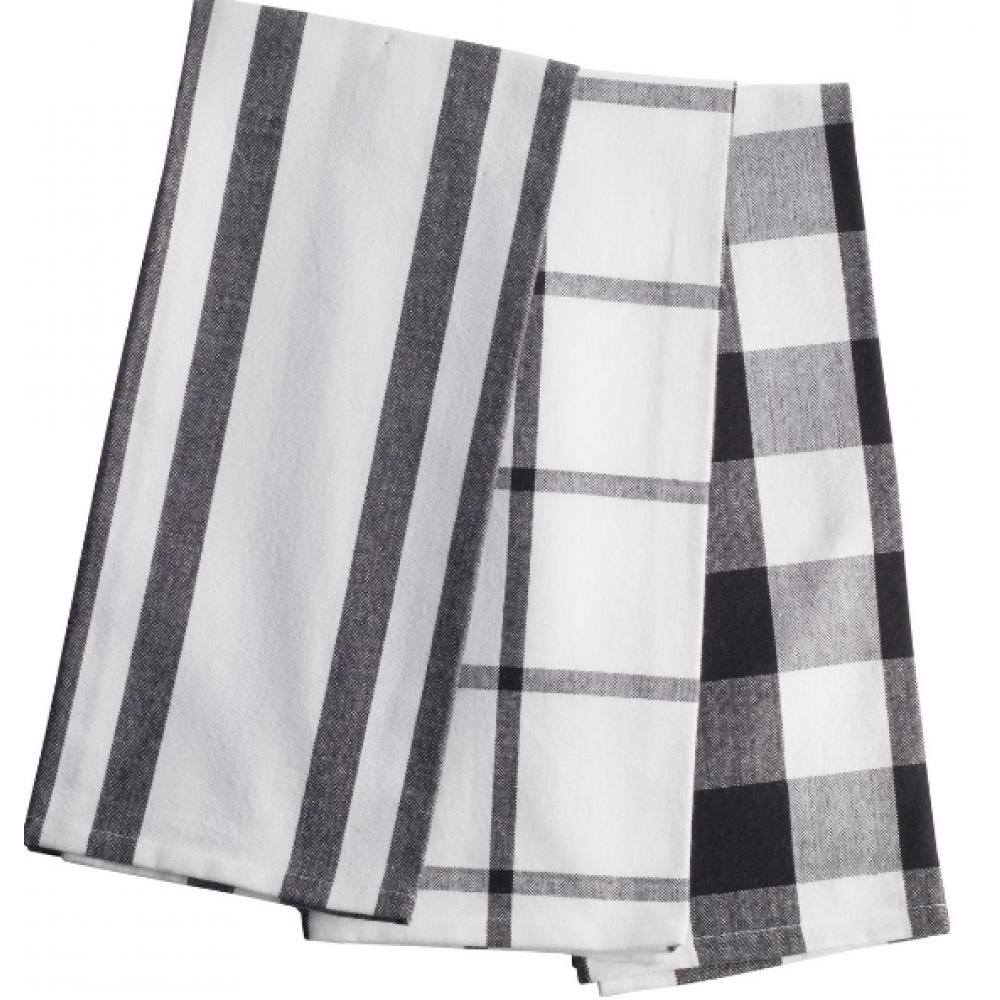 Kitchen Towel Striped/Plaid 3pk