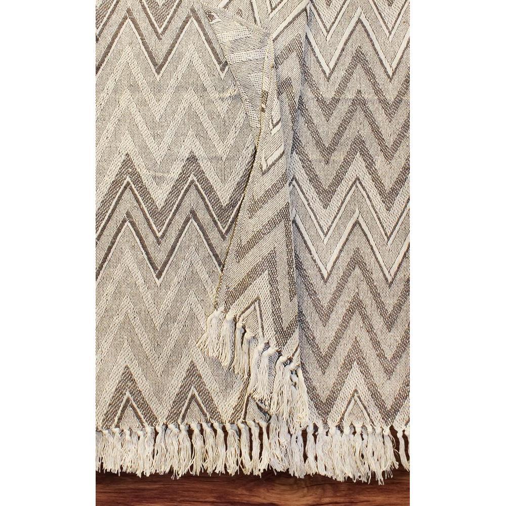 Throw Blanket Cotton Sentinel Neutrals Zig Zag Design