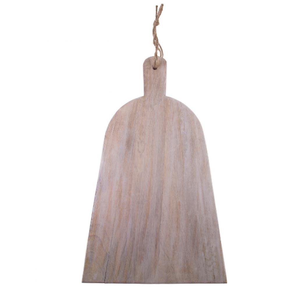 Wood Cutting Board - Dress Shaped Mango 20inL