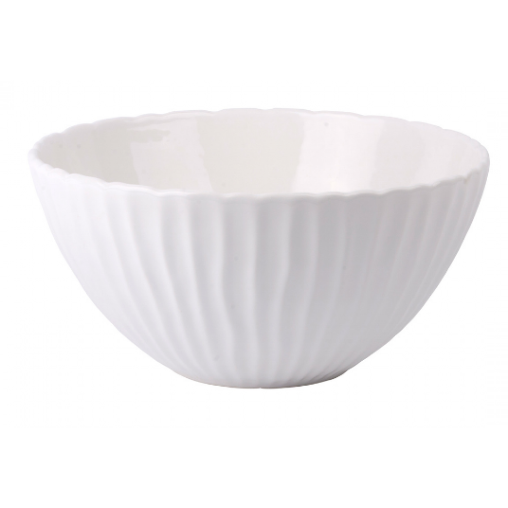 Serving Bowl - White Flow Collection Round 11inD