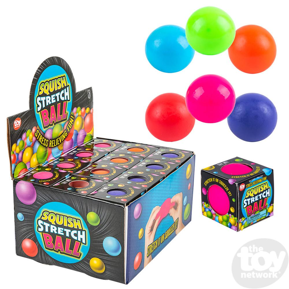 Squish Stretch Gummi Ball Assorted Colors 2.5in