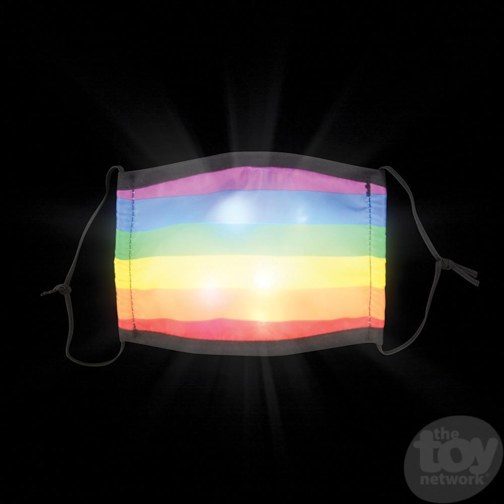 Masks Adult Size Rainbow Lights Up