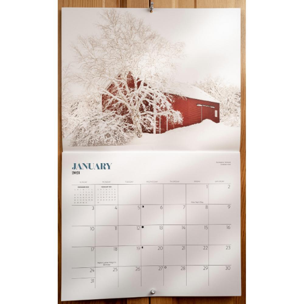 Barn Themed 12-Month Calendar