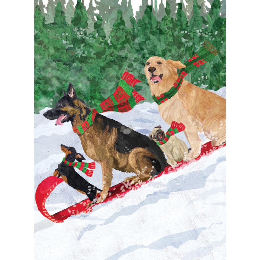 Holiday - Dog Toboggan
