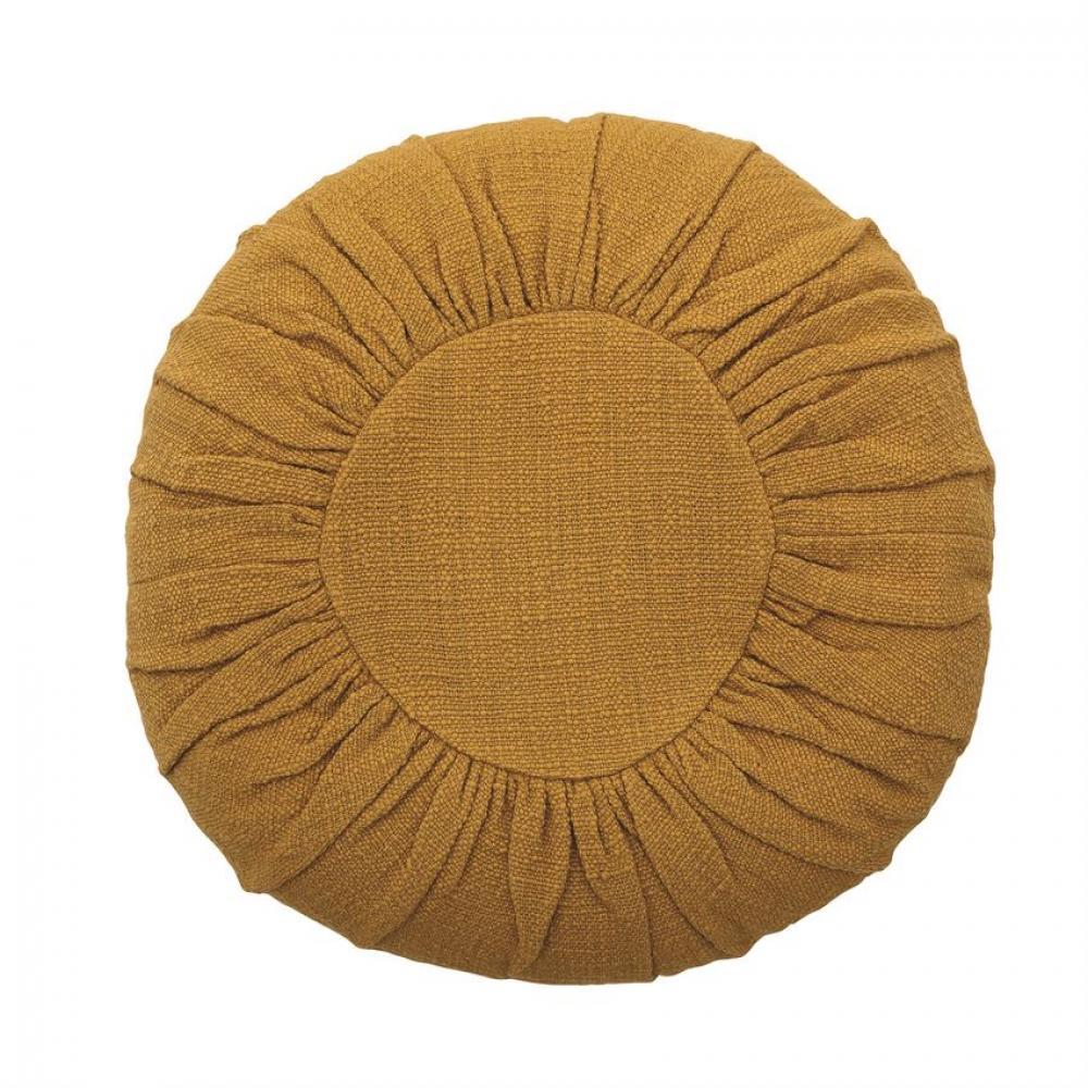 Pillow Round Cotton Mustard