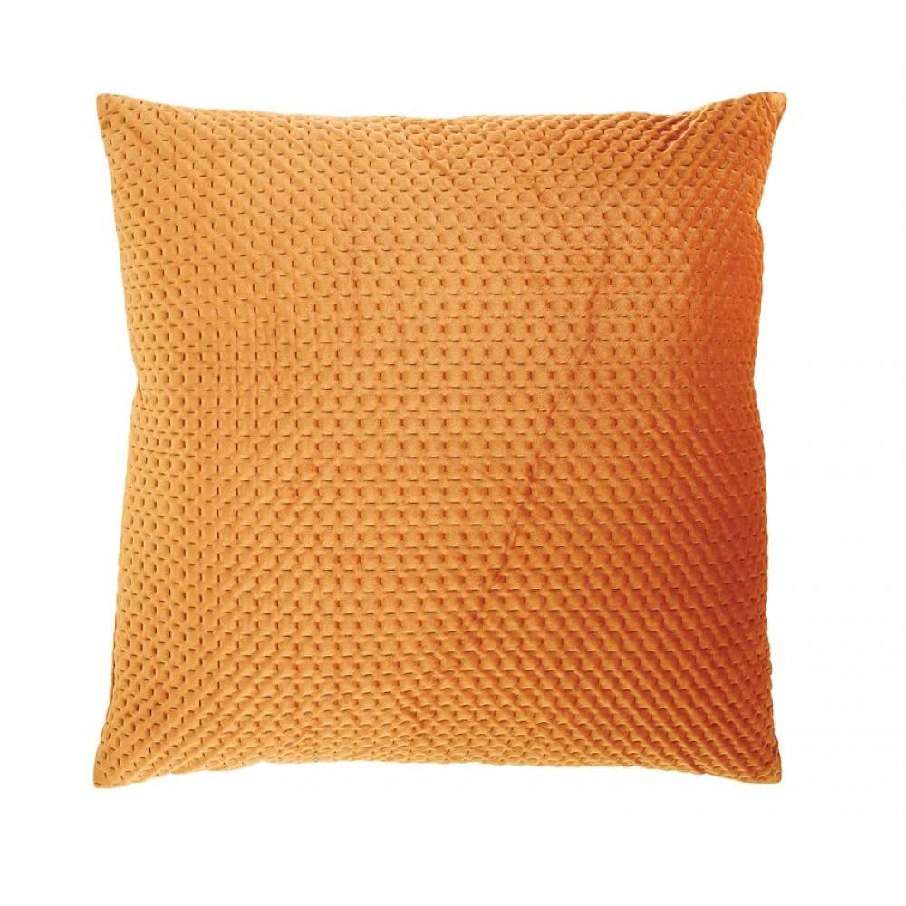 Pillow Square Extra Large Stitched Velvet Russet