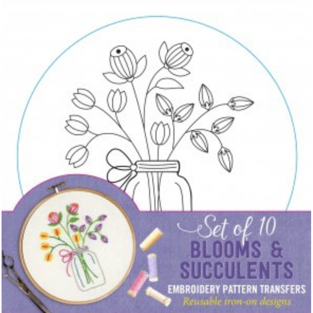 Bloom and Succulents Embroidery Patterns