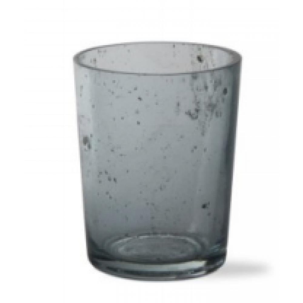 Mineral Glass Tealight Holder, Aqua