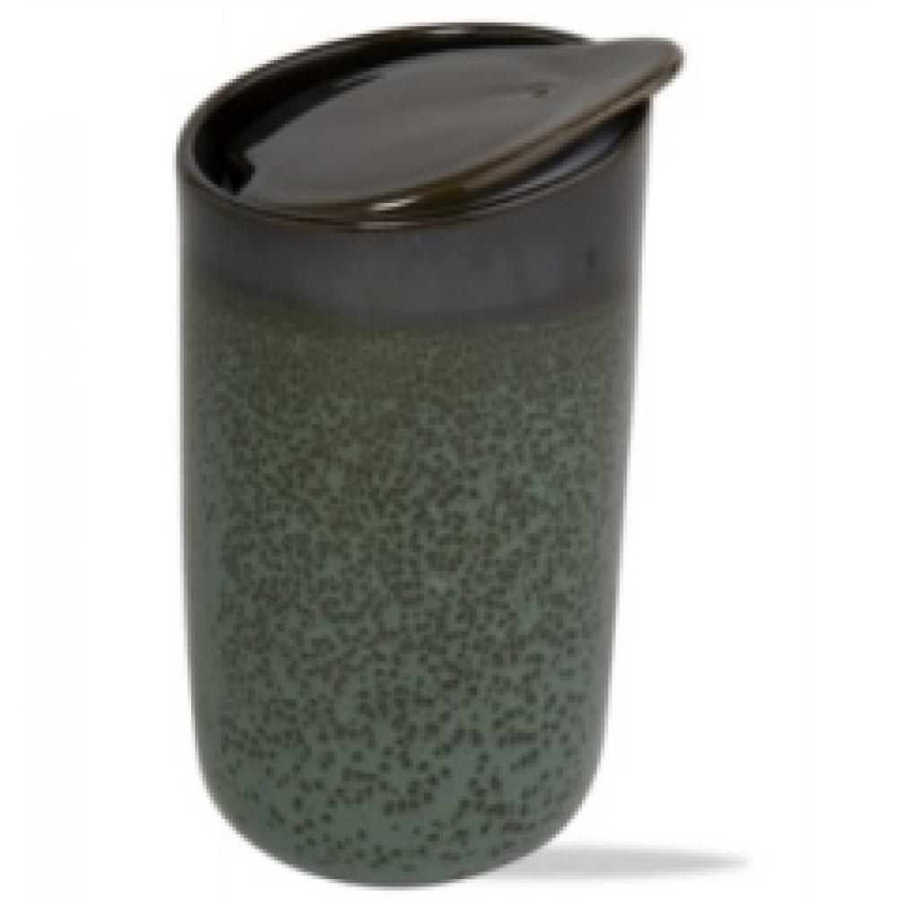 Speckled Reactive Glaze Travel Mug