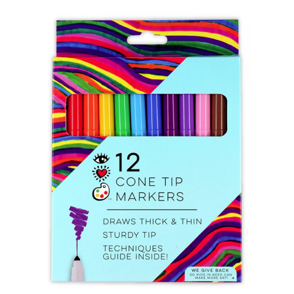 I Heart Art Markers Cone Tip 12pc