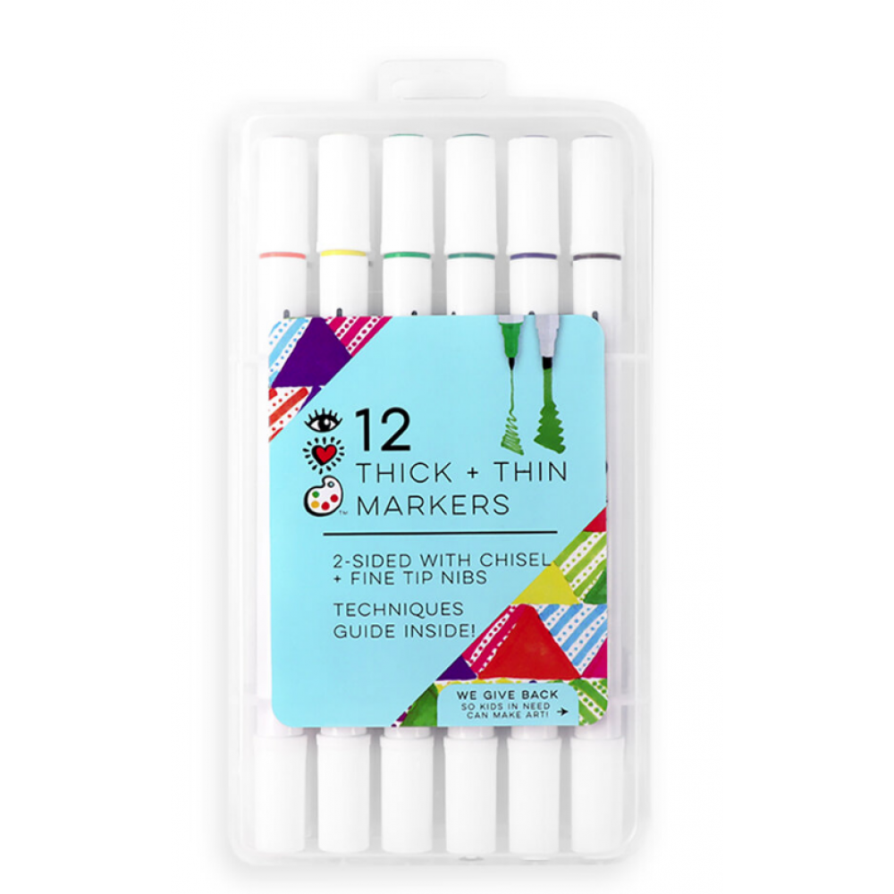Markers Thick + Thin12pc Chisel + Fine Tip