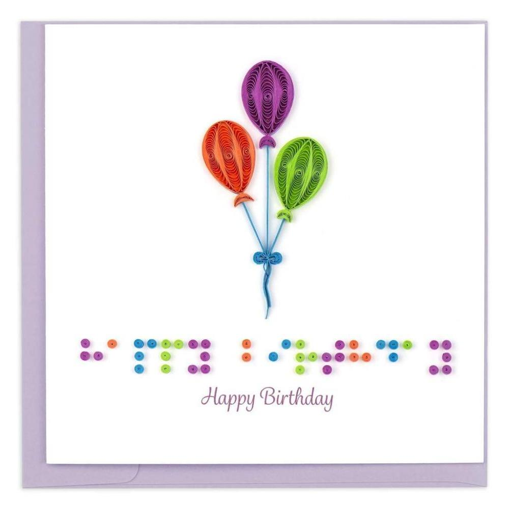 Birthday - Quilling - Braille
