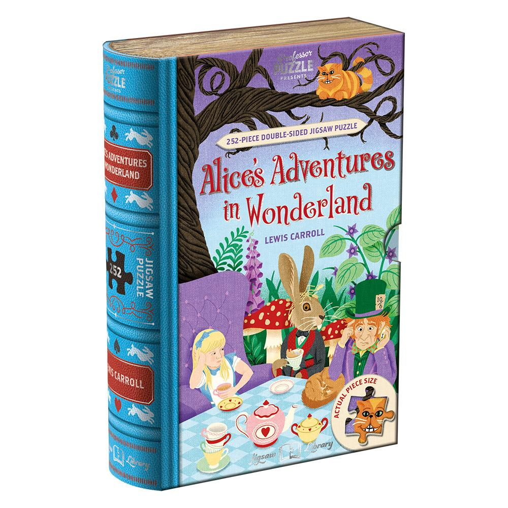 Jigsaw Puzzle Library 252 Piece Double Sided Alice in Wonderland