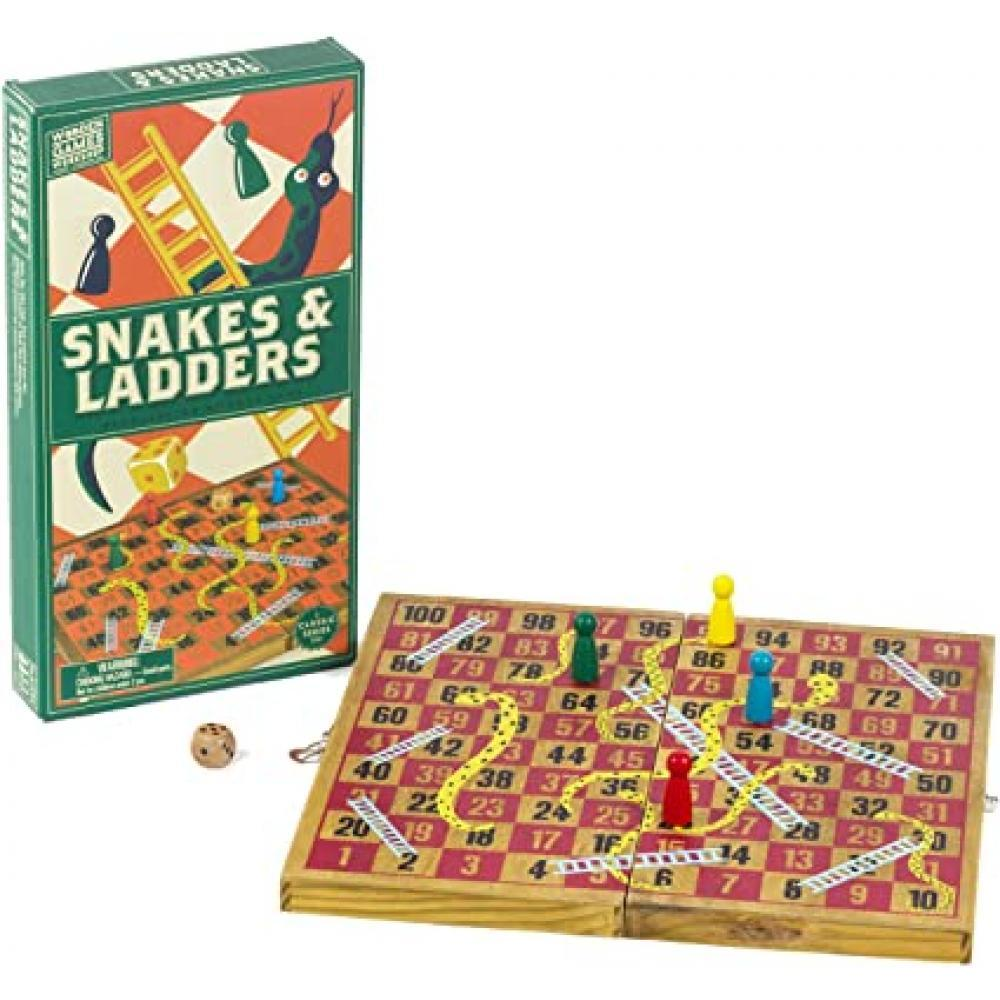 Wooden Games Snakes & Ladders