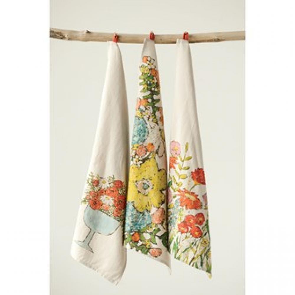 Tea Towel - Flowers (3 styles)