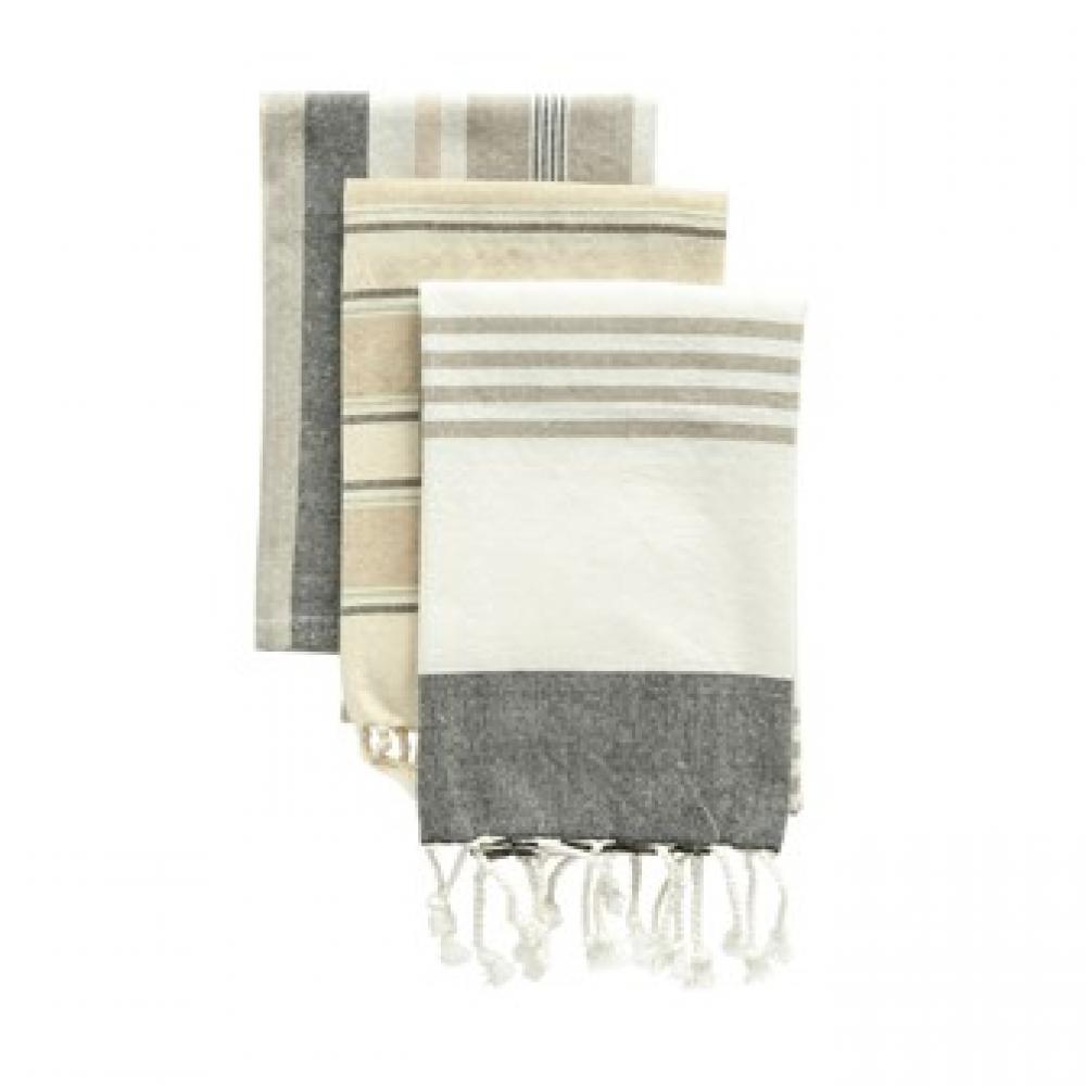 Tea Towels - Cotton Striped S/3
