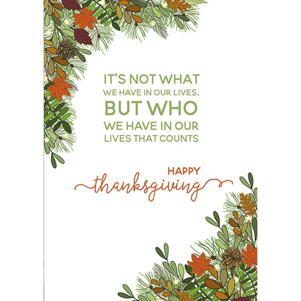 Thanksgiving Card - Who We Have