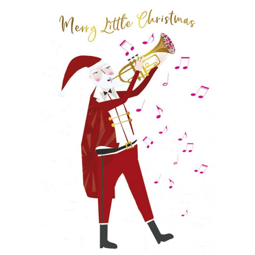 Xmas Card - Musical Santa
