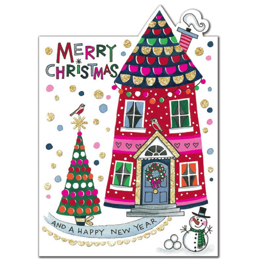 Xmas Card - Merry Christmas House