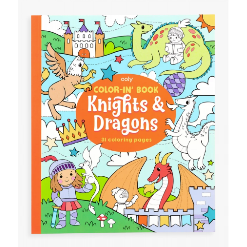 Color-in-Book: Knights and Dragons
