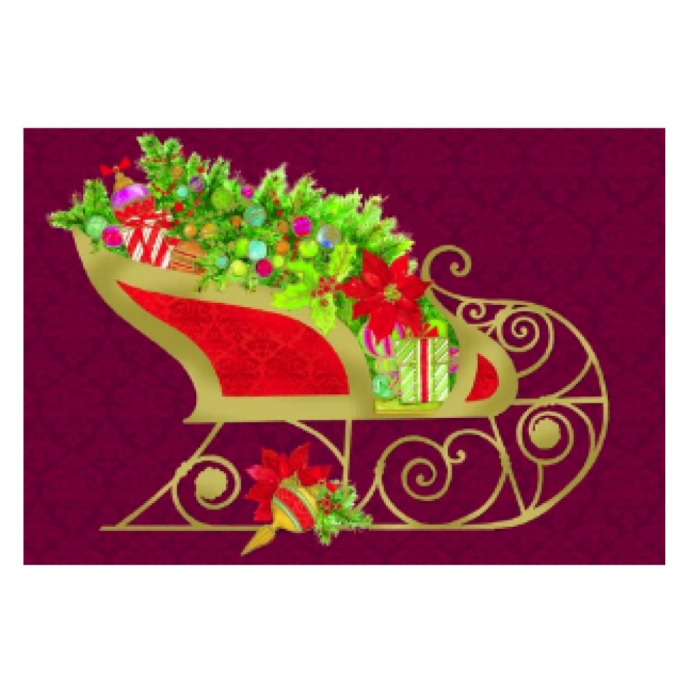 Christmas - Santa\'s Sleigh w/Gold