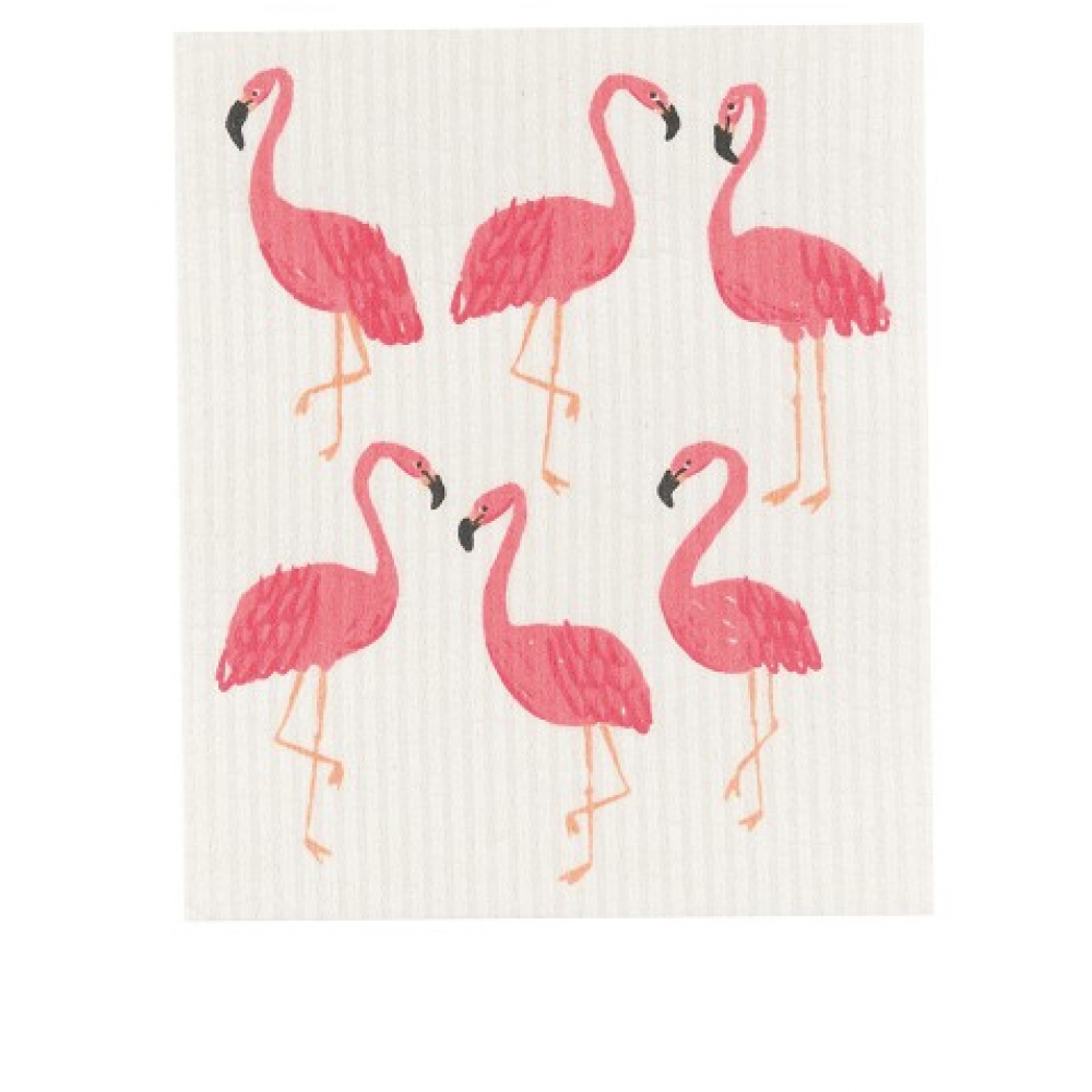 Dish Towel - Swedish Flamingos