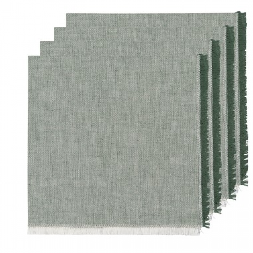 Napkin - Chambray Heirloom Jade S/4
