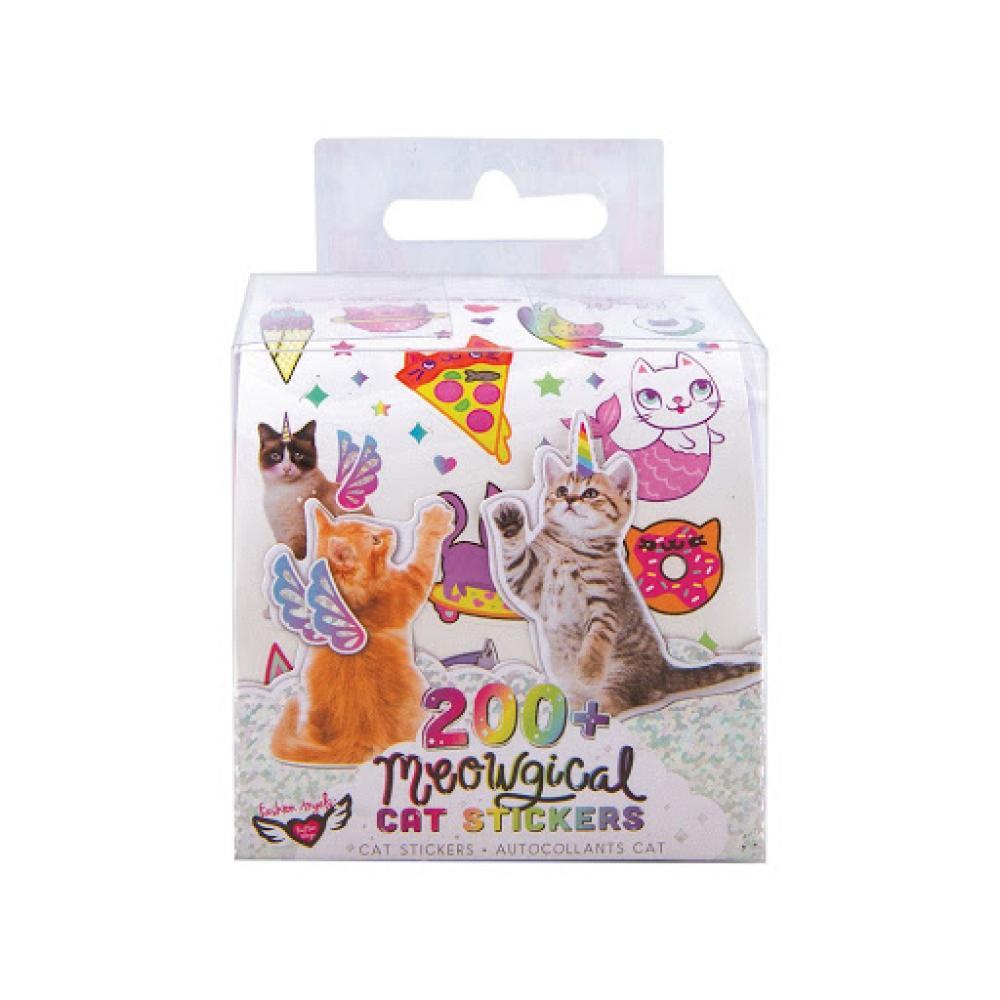 Meowgical 200+ Cat Sticker Roll Set
