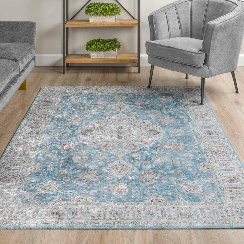 Rou 5ft X 7ft 6in Rug Cameo Blue