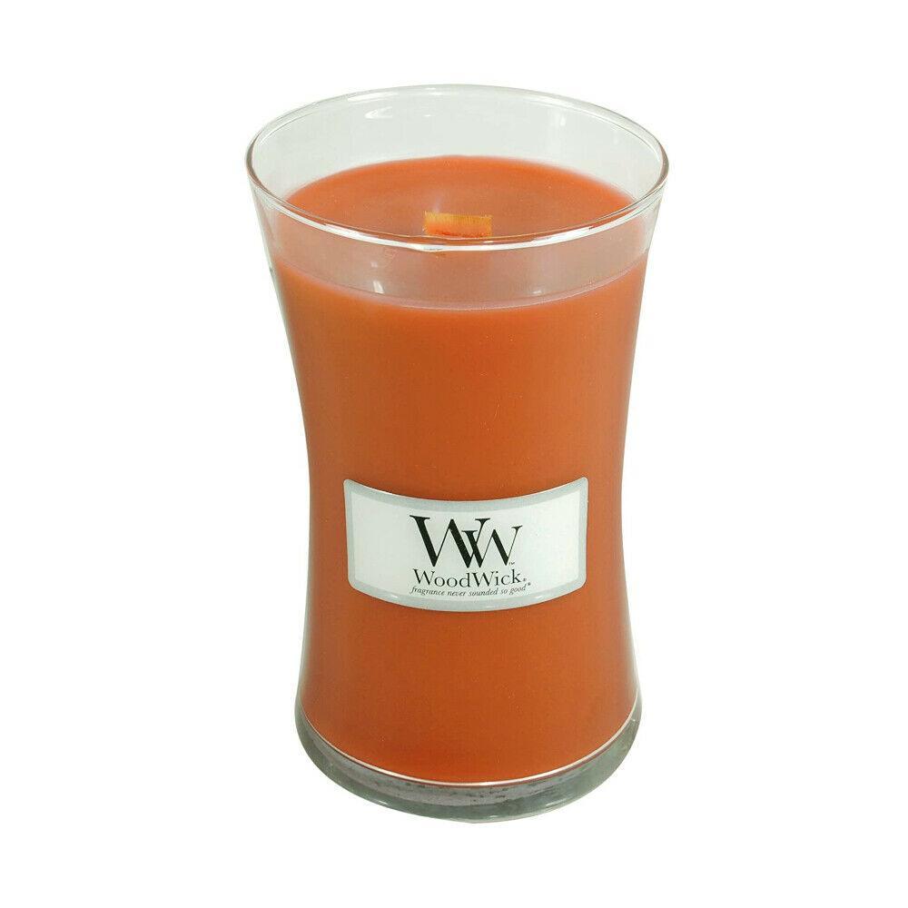 Woodwick Large Candle Jar Pumpkin Butter 22oz 130 Hour Burn Time
