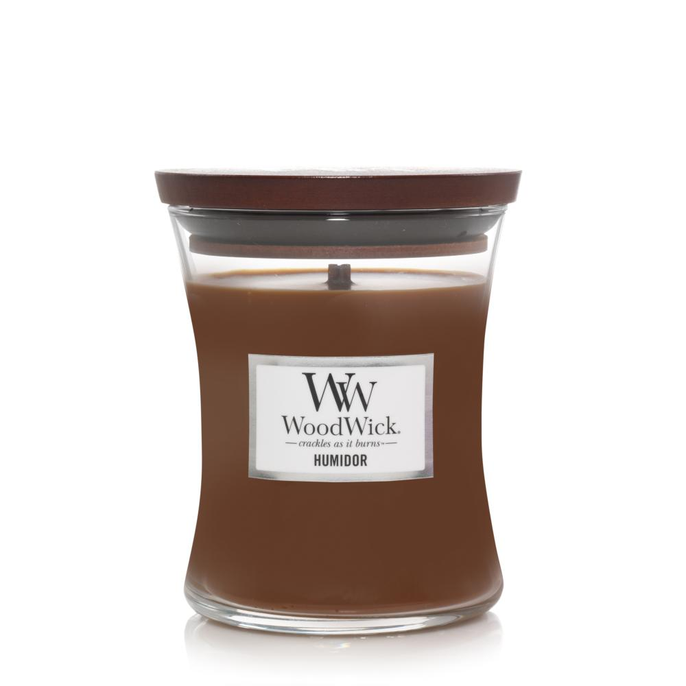 Woodwick Medium Candle Jar Humidor 10oz 60 Hour Burn Time