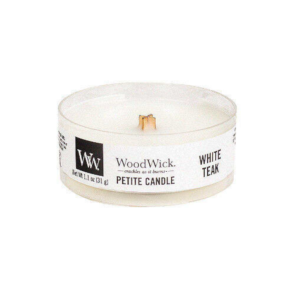 Woodwick Petite Candle White Teak 1.1oz