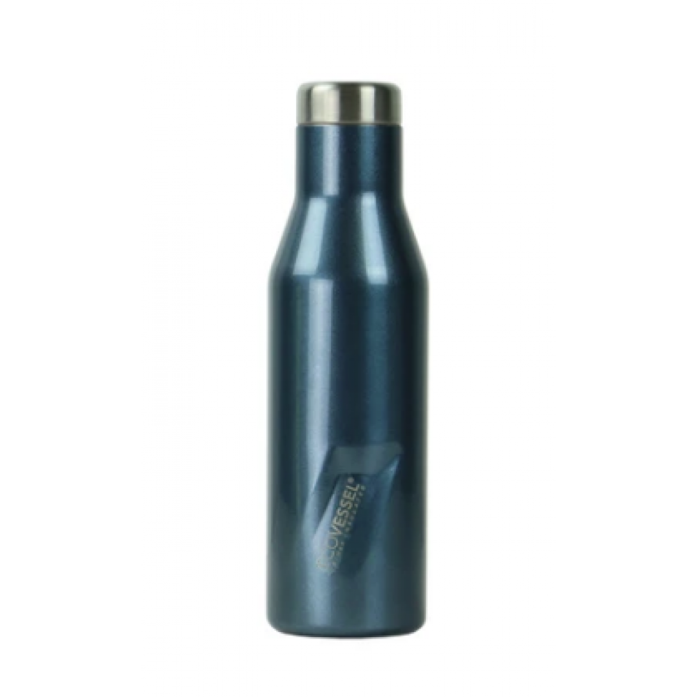 Water/Wine Bottle - The Aspen Insulated Stainless Steel Blue 16oz