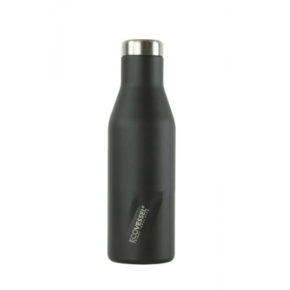 Water/Wine Bottle - The Aspen Insulated Stainless Steel Black 16oz