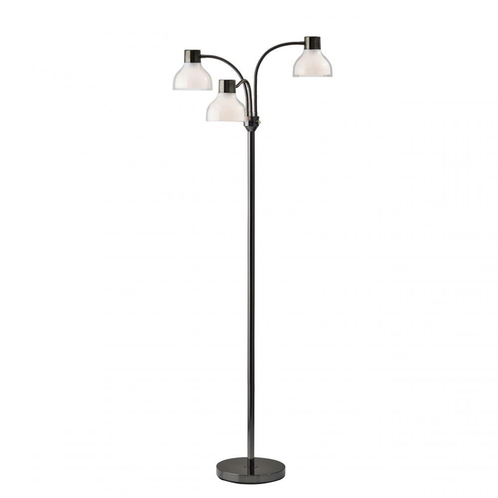 Presley 3 Arm Floor Lamp Black Nickel