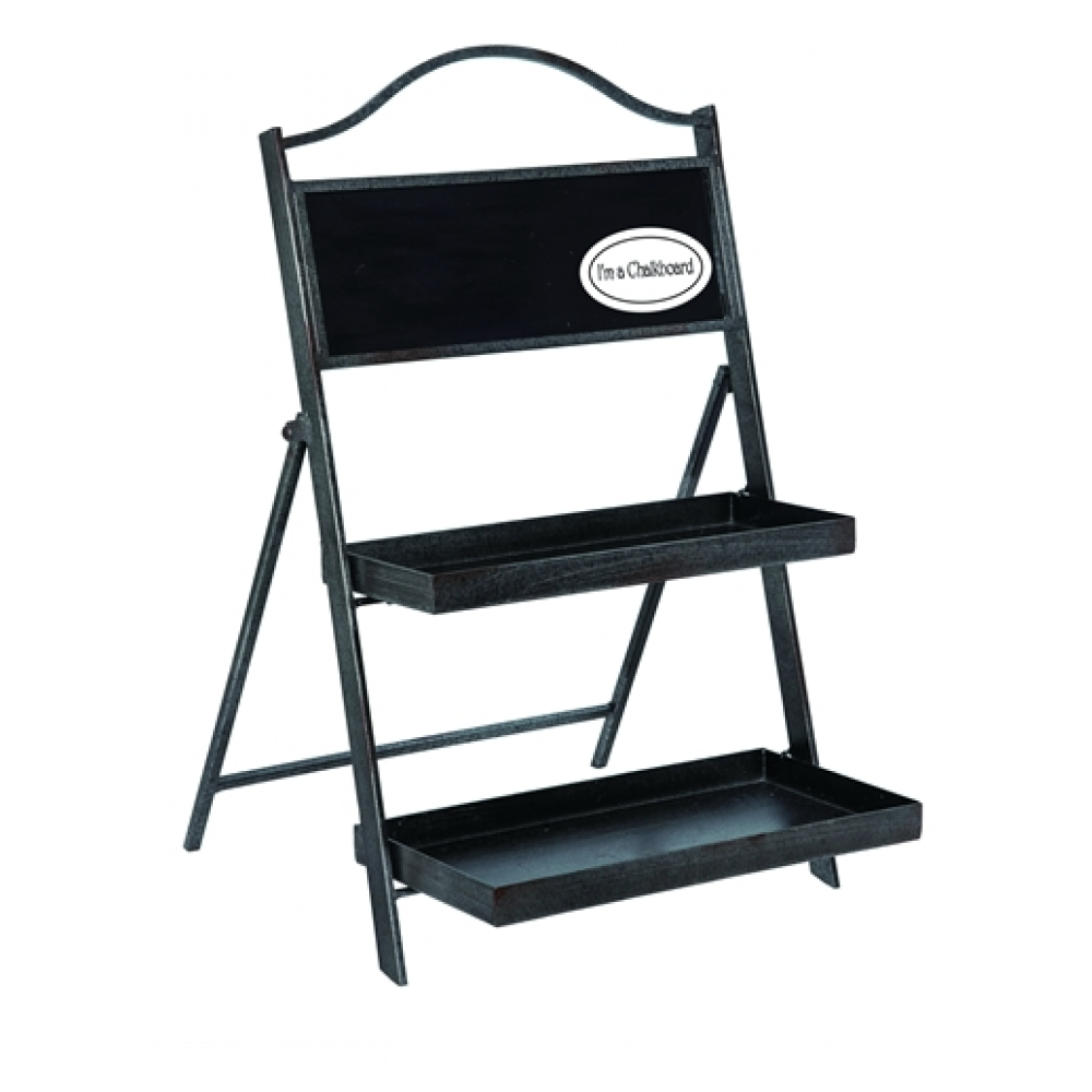 Metal Chalkboard Shelf Stand