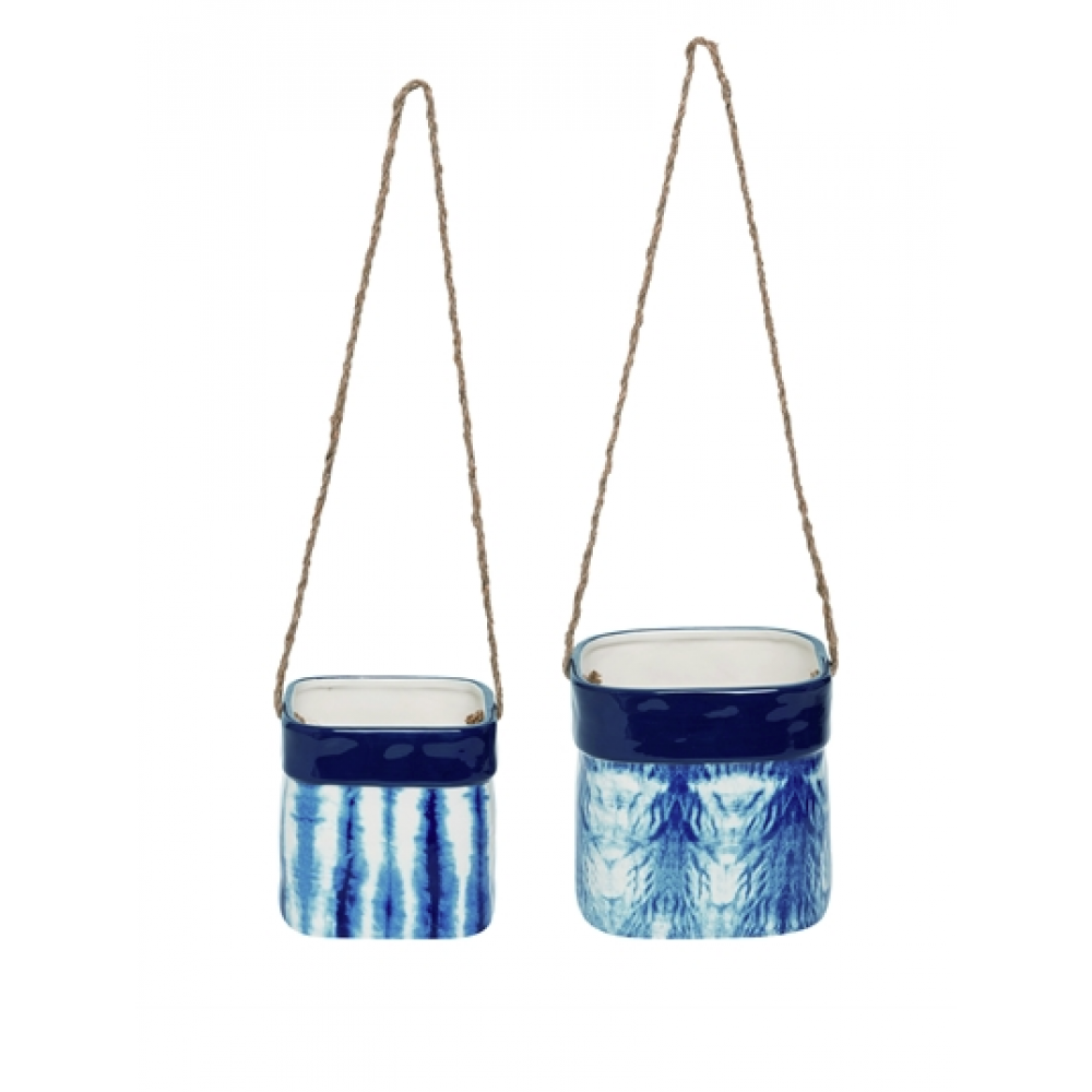 Planter - Hanging Nested Shibori S/2