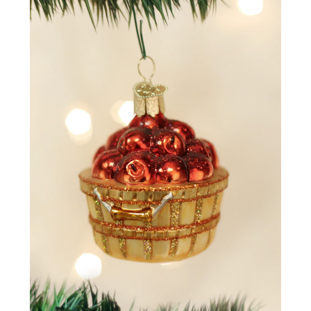 Christmas Ornament Apple Basket