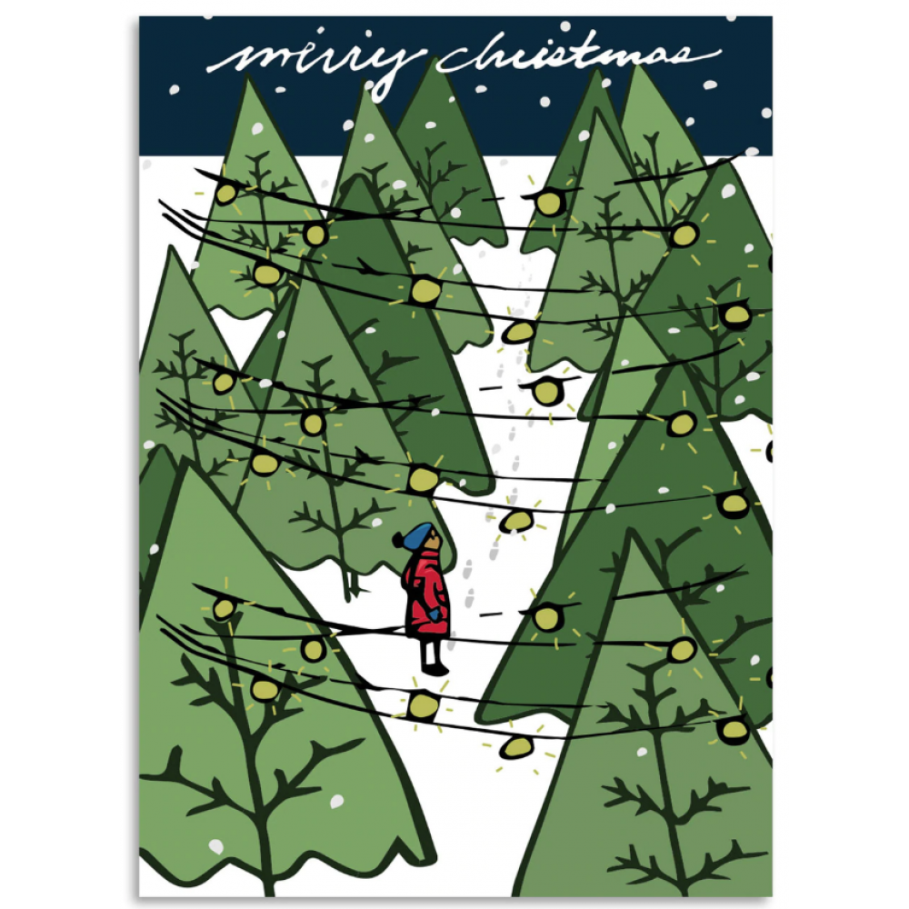 Christmas Card - Merry Christmas Tree Farm