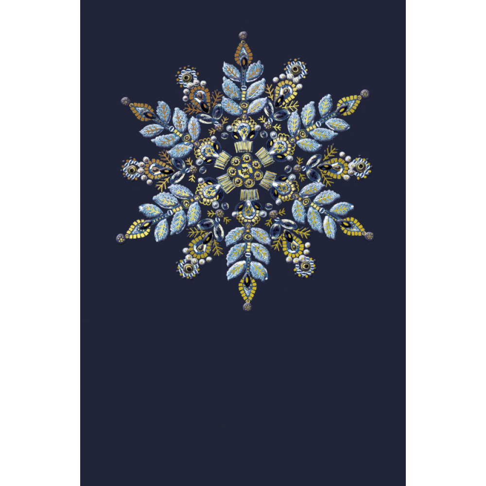 Christmas Card - Ornate Snowflake