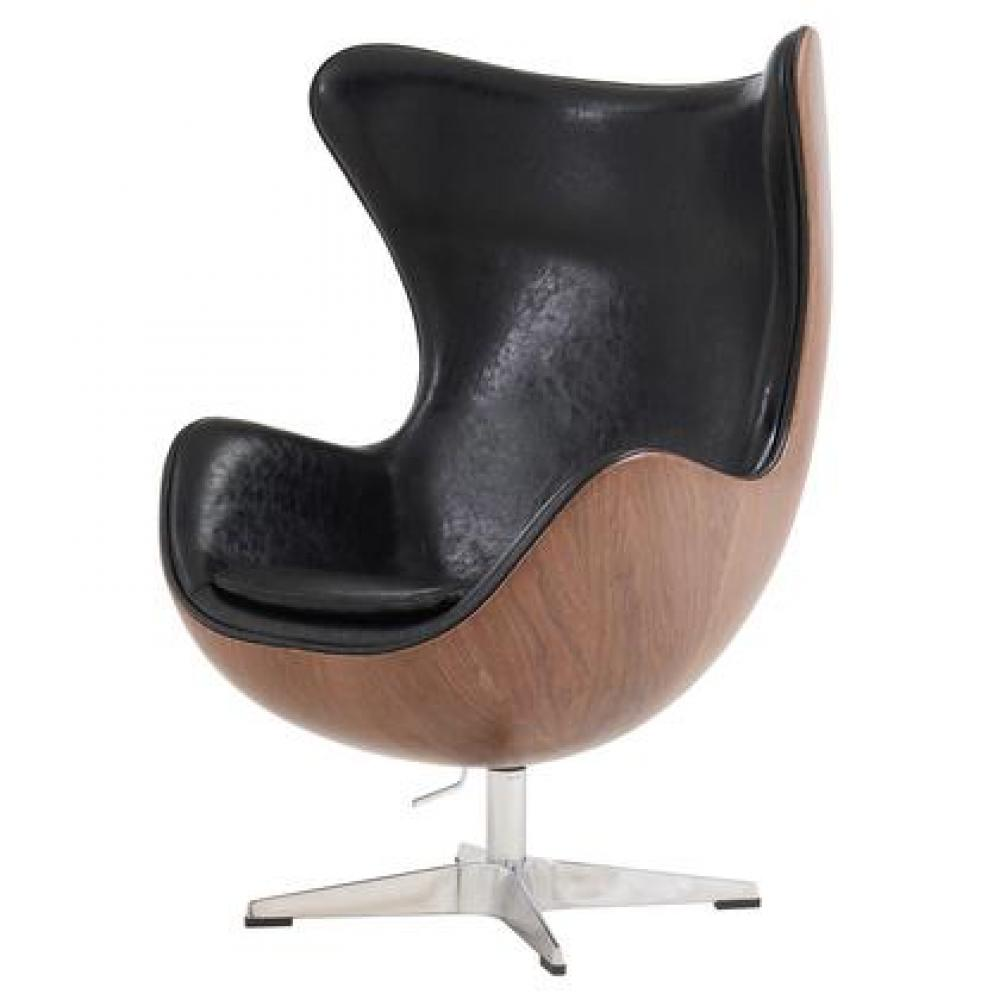 Axis Swivel Rocker Chair Dark Walnut Polyurethane
