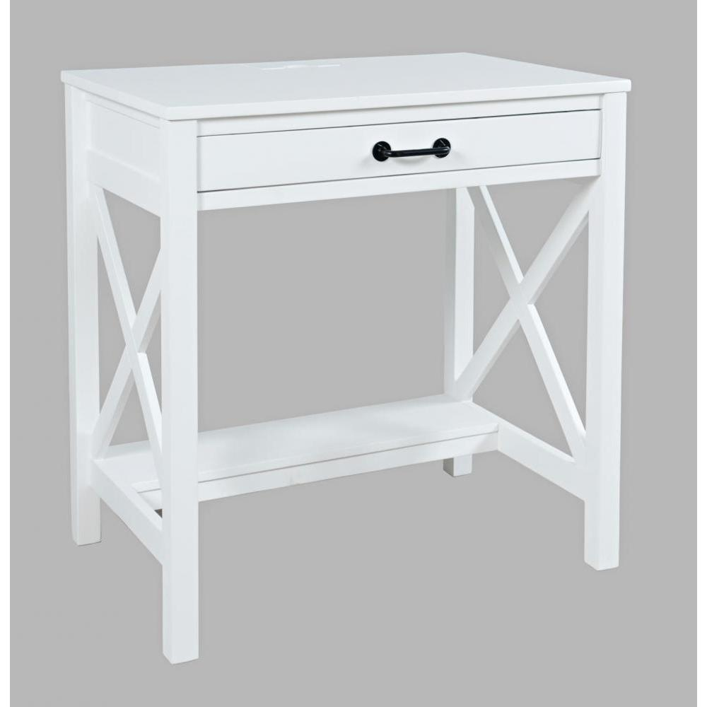 Hobson Desk With Power Charging Station White